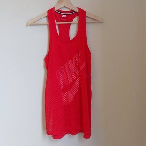 Nike Just Do it Mesh Red Racerback Tank
